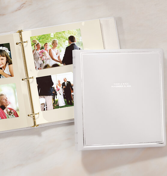 Ultimate Wedding Leather 3 Ring Album  Personalized - View 2