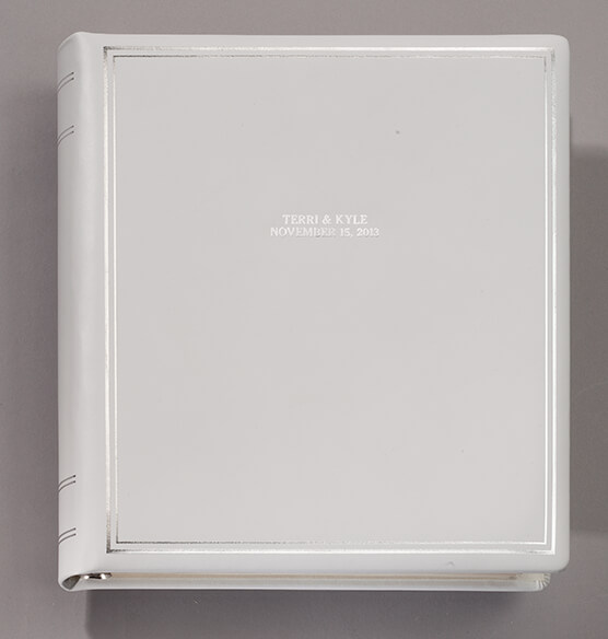Ultimate Wedding Leather 3 Ring Album  Personalized - View 4
