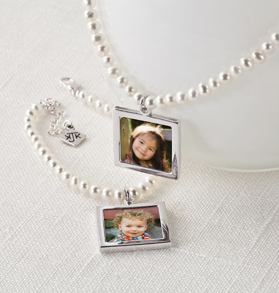 Cultured Pearl Photo Necklace - View 3