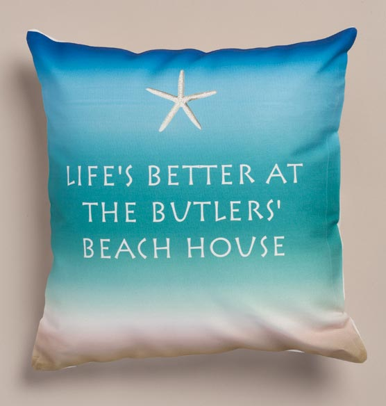 Beach House Personalized Pillow - View 2