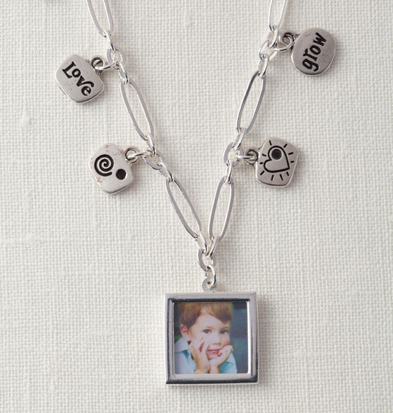 Chain Necklace with Photo & Charms - View 2