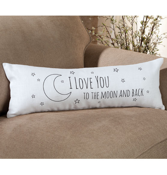 I Love you to the Moon Pillow - View 2