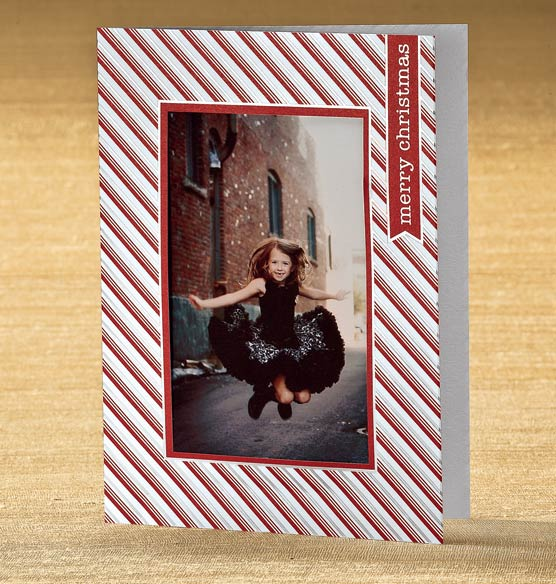 Peppermint Wishes Photo Christmas Card Set of 18 - View 3