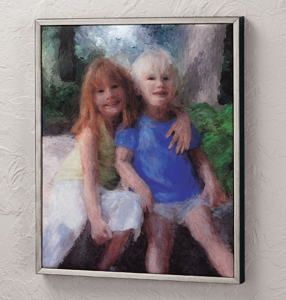 Framed Impressionist Photo Canvas - 16 X 20 - View 2