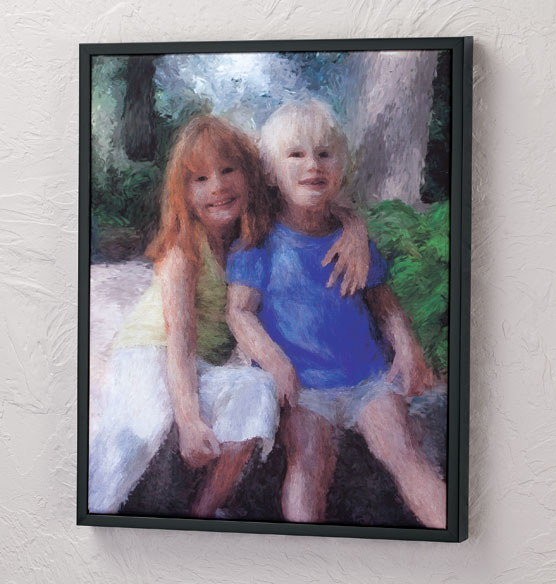 Framed Impressionist Photo Canvas - 16 X 20 - View 3