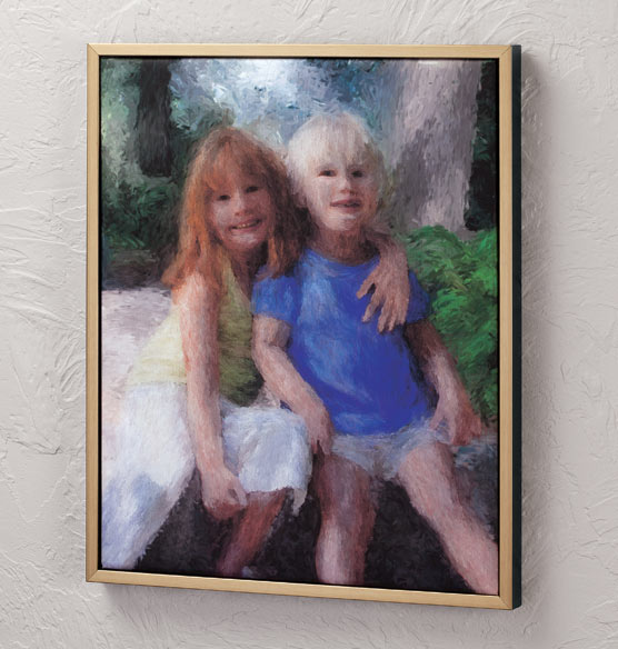 Framed Impressionist Photo Canvas - 16 X 20 - View 4