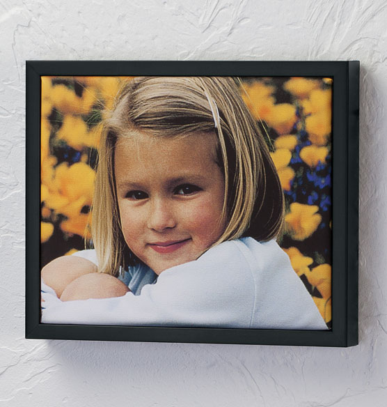 Framed 8x10 Custom Photo Canvas - View 2