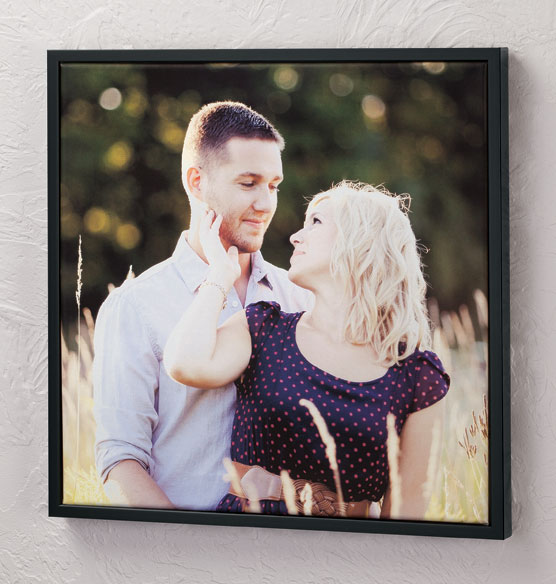 Framed 18x18 Custom Photo Canvas - View 2