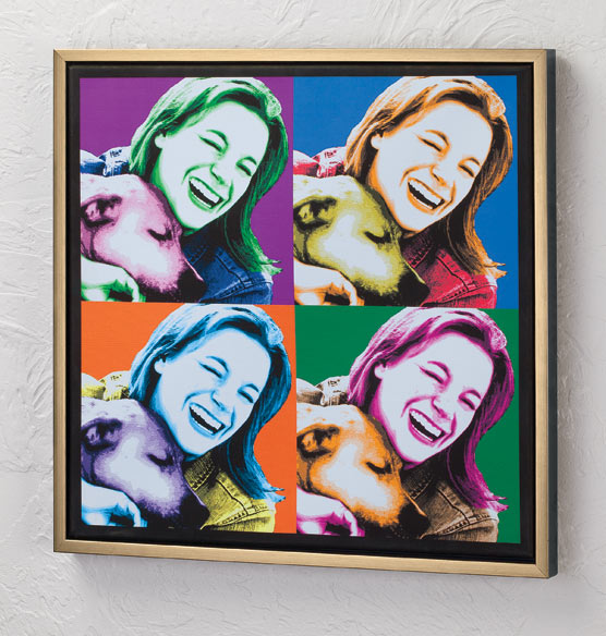 "Framed Personalized Pop Art Canvas - 18"" x 18"" - View 2"