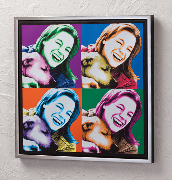 "Framed Personalized Pop Art Canvas - 18"" x 18"" - View 3"