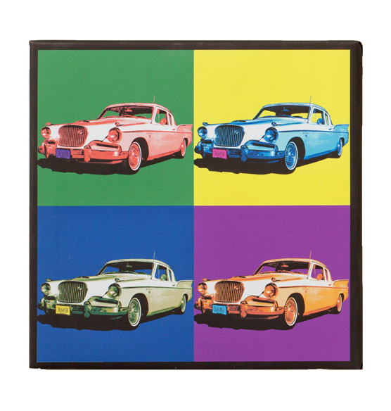 "Framed Personalized Pop Art Canvas - 18"" x 18"" - View 4"
