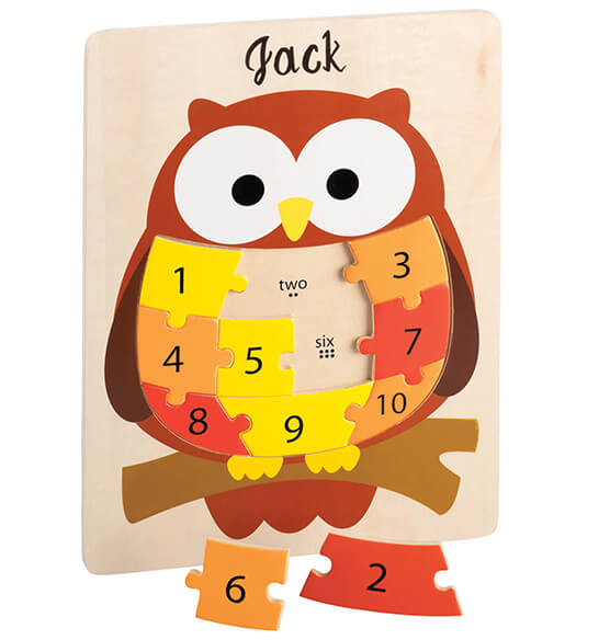 Personalized Owl Puzzle - View 2