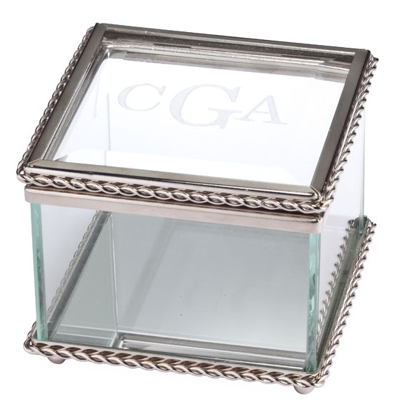 Personalized Glass Treasure Box - View 2