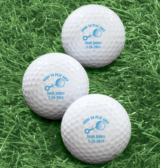 Personalized Born To Play Golf Balls - Set of 6 - View 2