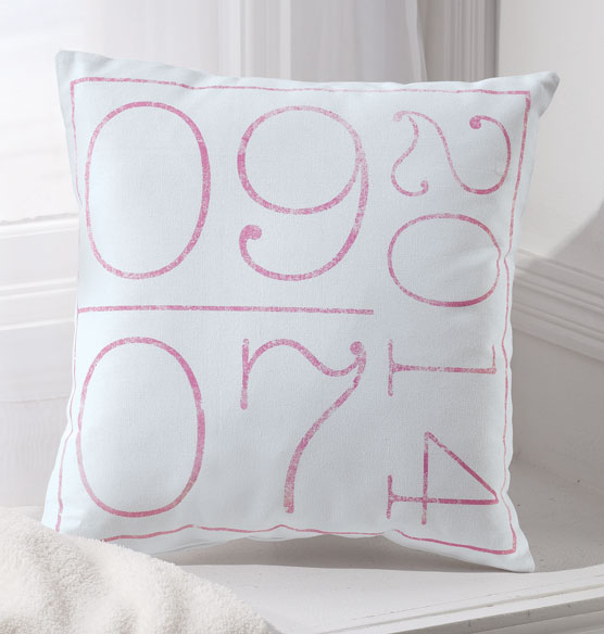 Birth Date Pillow - View 2