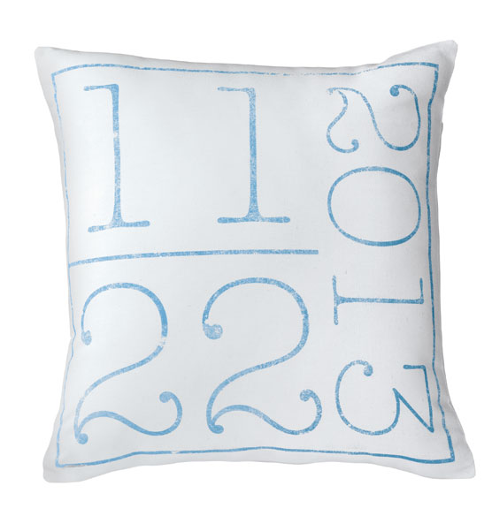 Birth Date Pillow - View 3