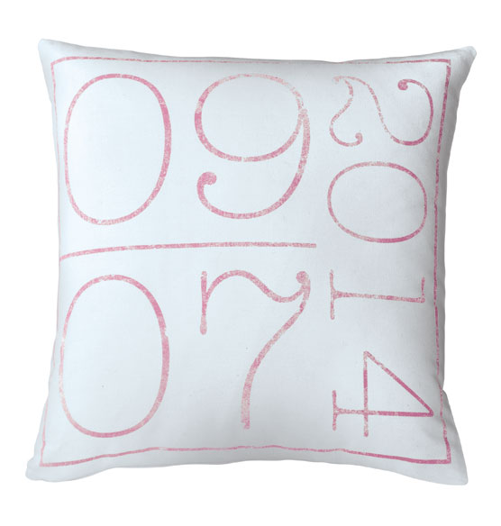 Birth Date Pillow - View 5