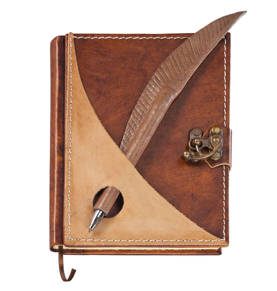 Quill Journal with Pen - View 2