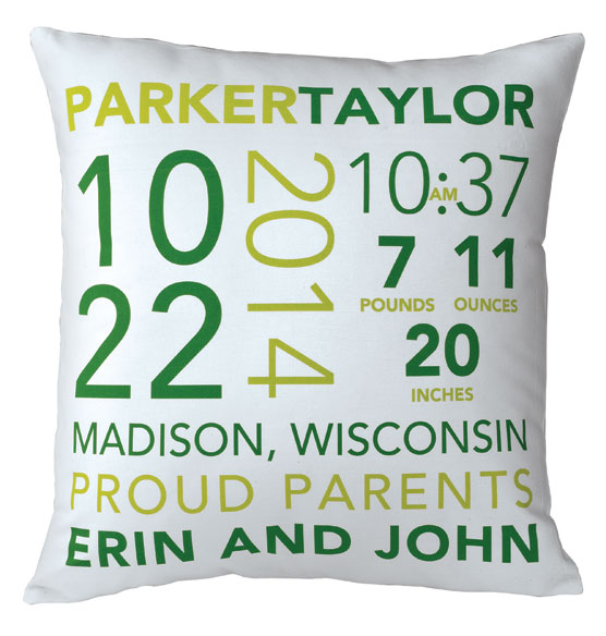 Birth Announcement Pillow - View 3