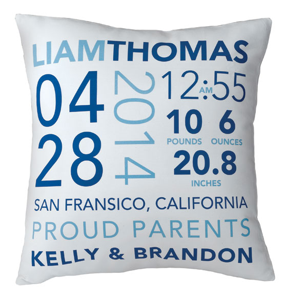 Birth Announcement Pillow - View 4