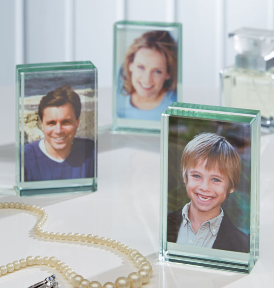 Glass Block Favor Frames, Set of 3 - View 2