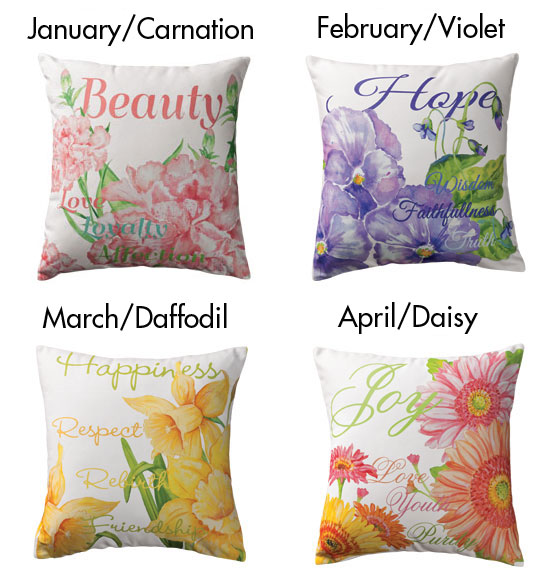Flower of the Month Pillow - View 2