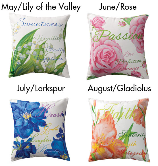 Flower of the Month Pillow - View 3
