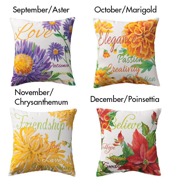 Flower of the Month Pillow - View 4