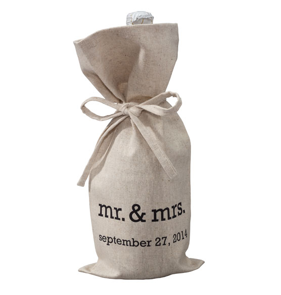 Mr. & Mrs. Wine Bag - View 2