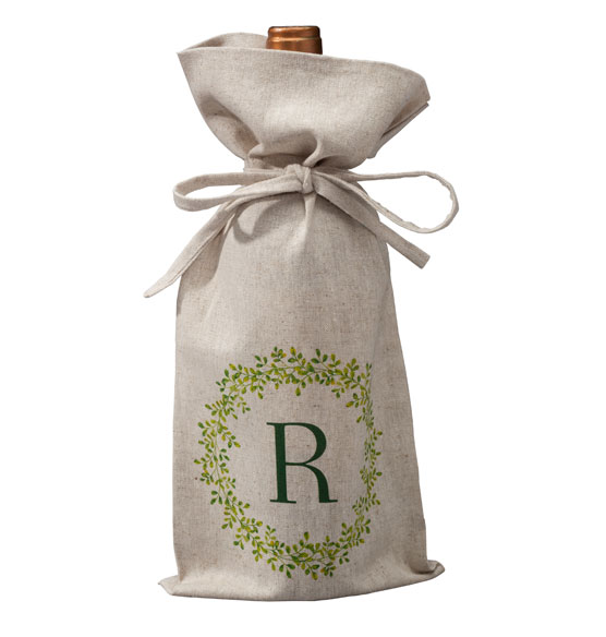 Personalized Boxwood Wine Bag - View 2