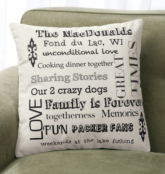 Family Story Pillow - View 2