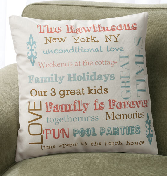 Family Story Pillow - View 3