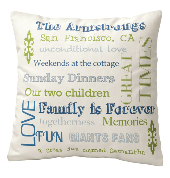 Family Story Pillow - View 4