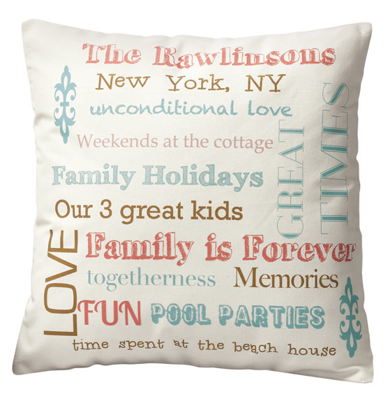 Family Story Pillow - View 5