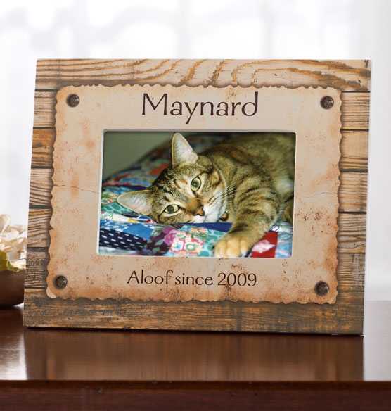 Personalized Rustic Look Dog or Cat Photo Frame - View 2