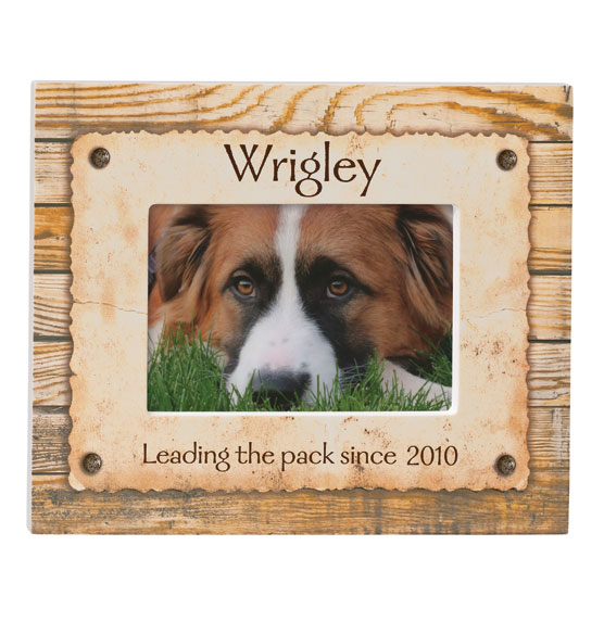 Personalized Rustic Look Dog or Cat Photo Frame - View 3