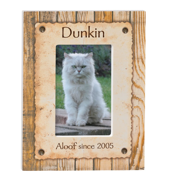 Personalized Rustic Look Dog or Cat Photo Frame - View 4