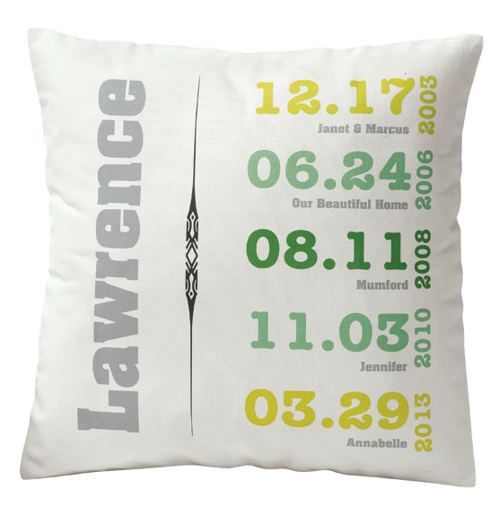 Family Timeline Pillow - View 5