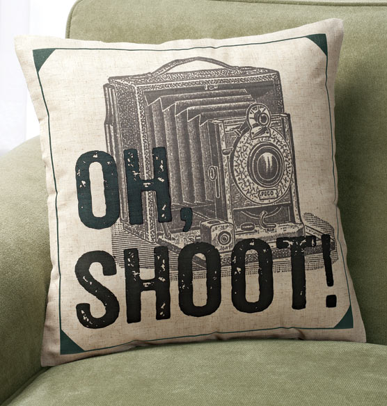 Oh Shoot! Pillow - View 2