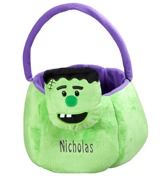 Personalized Frankenstein Trick or Treat Bag - View 2