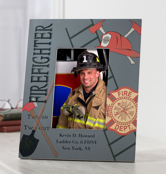 Personalized Firefighter Decorative Photo Frame - View 2