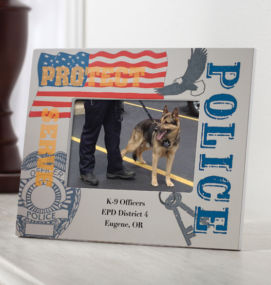 Personalized Police Officer Decorative Photo Frame - View 2