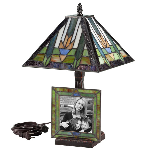 Stained Glass Lamp with Frame - View 2