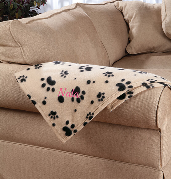 Personalized Paw Print Pet Blanket - View 2