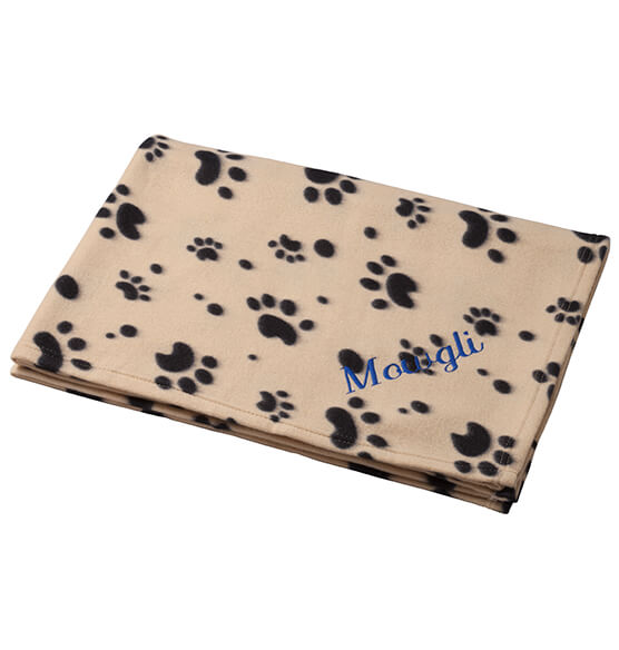 Personalized Paw Print Pet Blanket - View 4