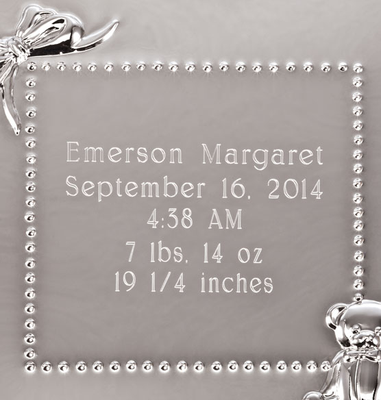 Personalized Baby Announcement Frame - View 3