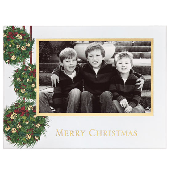 Yuletide Greetings Photo Christmas Card Set of 18 - View 3