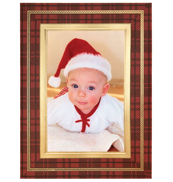 Perfectly Plaid Photo Christmas Card Set of 18 - View 4