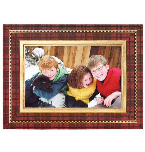 Perfectly Plaid Photo Christmas Card Set of 18 - View 5