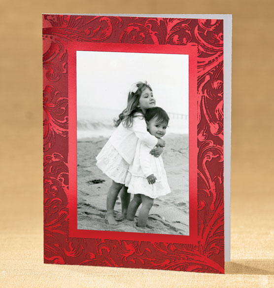Truly Red Photo Christmas Card Set of 18 - View 2
